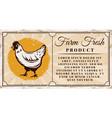 chicken farm fresh product horizontal banner