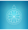 Christmas Ball with Snowflake on a Blue Background vector image vector image