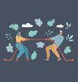 couple quarrel tug-of-war vector image