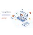 cross platform development website multi-platform vector image vector image