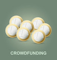 crowdfunding concept new business model vector image
