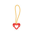 cute necklace heart jewelry for princess girl vector image vector image
