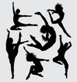 dance and aerobic silhouette vector image vector image