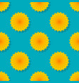 dandelions on blue background seamless pattern vector image vector image
