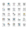 data science flat icons vector image vector image