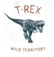 Dinosaur T-Rex running vector image vector image