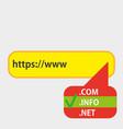 domain checker website process demo analytics vector image vector image