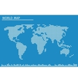 earth globe world map dots vector image vector image