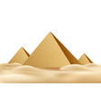 egypt pyramids famous landmark realistic a vector image