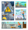 electrician tools electricity repair service vector image vector image