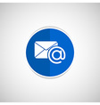 email icon outbox flat box inbox vector image vector image