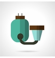 Flat color water filter icon vector image vector image