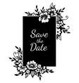 floral rectangular frame vector image
