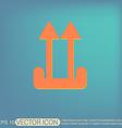 Fragile symbol arrow up logistic icon vector image vector image