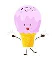 Funny fast food ice cream icon vector image