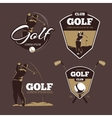 Golf country club logo templates vector image