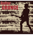guitar grunge vector image vector image