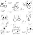 Halloween doodle set witch element vector image vector image