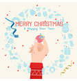 Hand holding a ball for christmas vector image