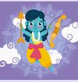 happy dussehra festival india warrior lord vector image vector image