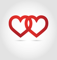 Hearts linked symbol vector image