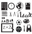 icons set of back to school concept pictogram vector image vector image