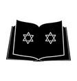 jewish bible with the star of david icon vector image