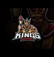king mascot sport logo design vector image vector image
