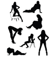 Lady silhouettes vector image