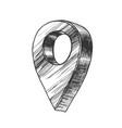 map pointer gps location modern symbol vector image vector image