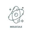 molecule line icon linear concept outline vector image vector image