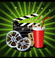 movie theme objects vector image vector image