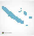 new caledonia map and flag icon vector image vector image