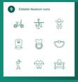 newborn icons vector image vector image