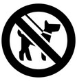 not walk with a dog forbidden sign modern round vector image