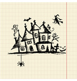 Old mystery house halloween night vector image vector image