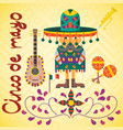 on mexican theme of cinco de mayo celebration in vector image