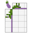 paint number puzzle nonogram eggplant vector image vector image