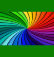 rainbow modern swirl colorful abstract background vector image