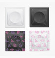 realistic detailed 3d condoms package template vector image