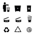recycle icon set in black color vector image vector image