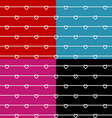 Rope wires with heart knots seamless pattern vector image vector image
