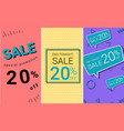 sale banner with pastel color banner background vector image vector image