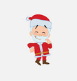 santa claus with funny expression vector image vector image