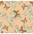 seamless pastel butterfly pattern wallpaper vector image vector image