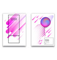 set banner design templates with abstract vector image