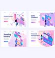 set isometric concepts financial management vector image
