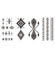 set of decorative tribal elements isolated vector image