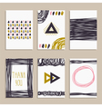 Set of trendy posters Modern hipster style for vector image