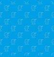 sleeping boy pattern seamless blue vector image